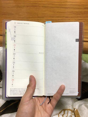 ほぼ日手帳2018 マジカントの地図に下敷きとクリアカバーをつけてみた