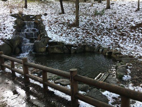 千葉県柏市のあけぼの山公園の美しい雪景色