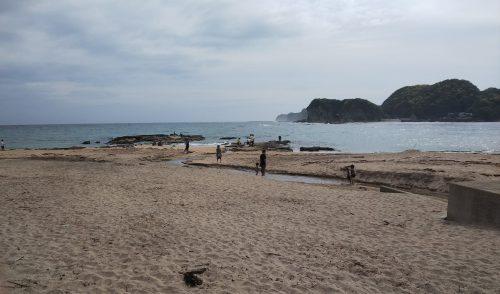 千葉県勝浦市の海(守屋海水浴場)